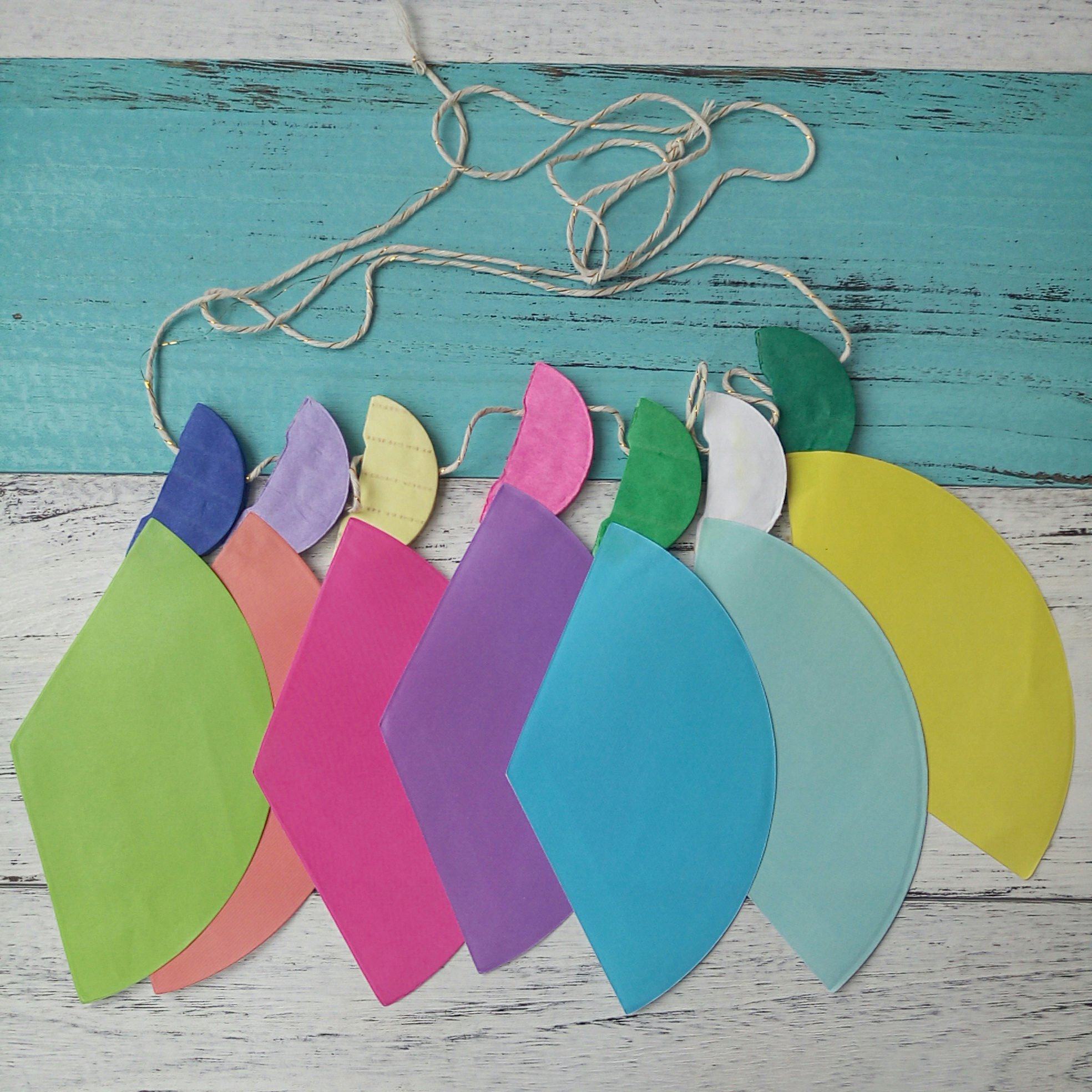colorful paper icecream garland