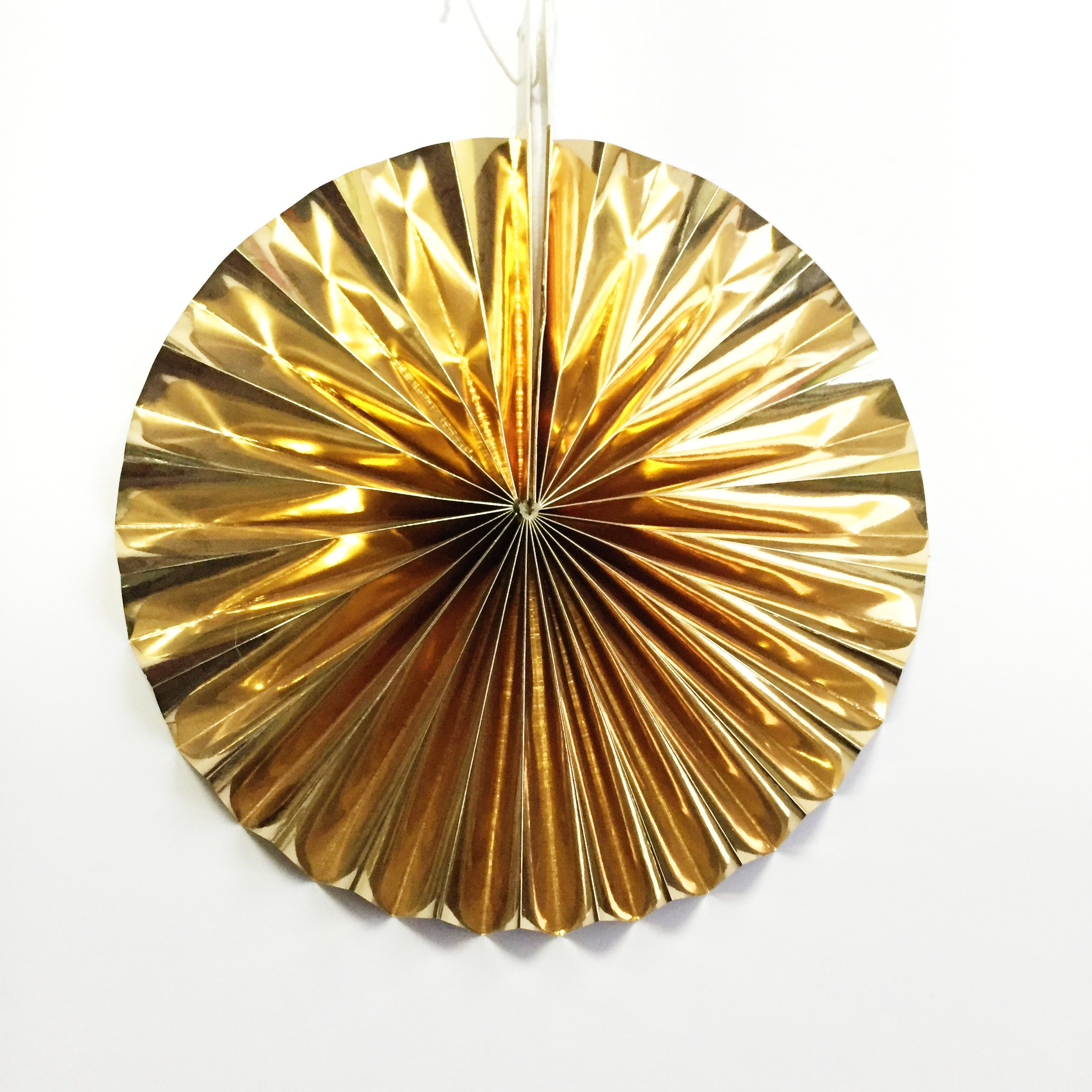 gold folding fan for party decoration