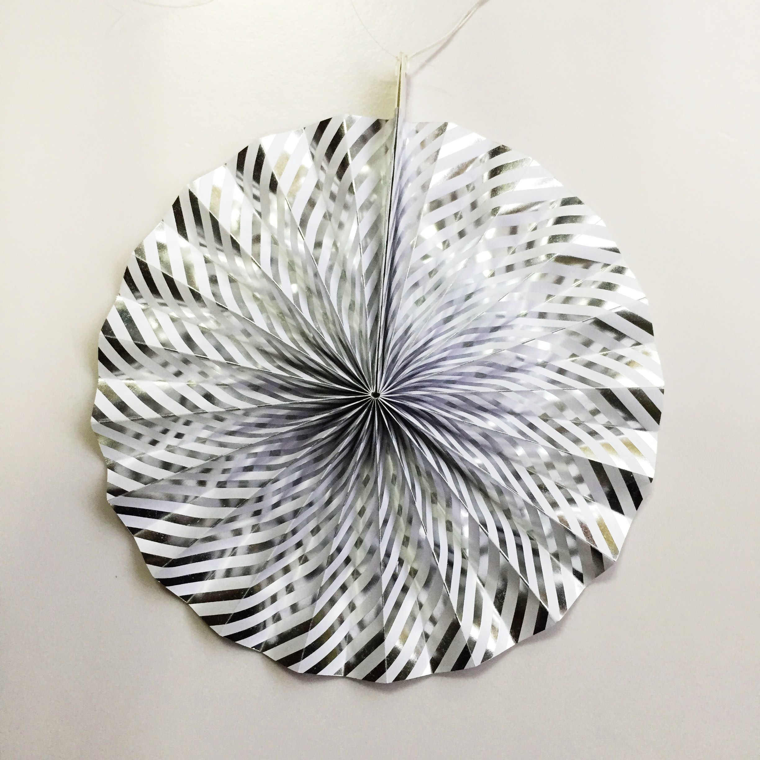 silver paper fan for party decoration