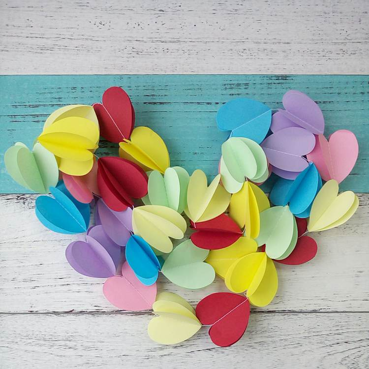 colorful paper garland