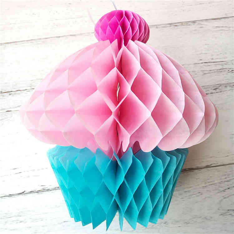 Factory Supply Tissue Paper Honeycomb Cupcakes