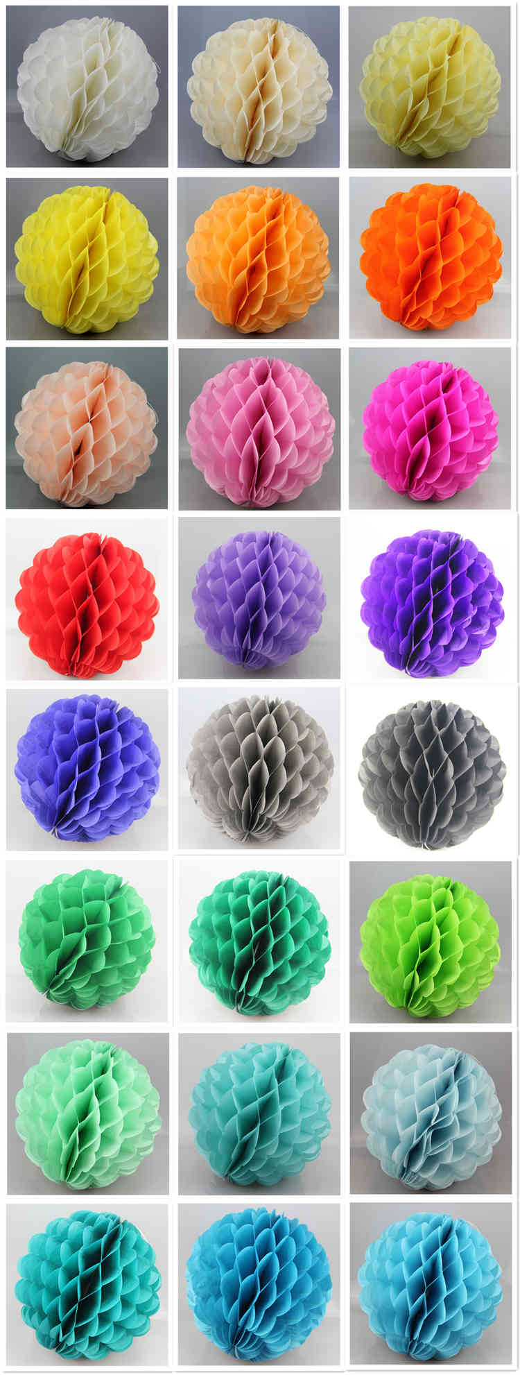 colorful Special Shaped Tissue Paper Honeycomb Ball
