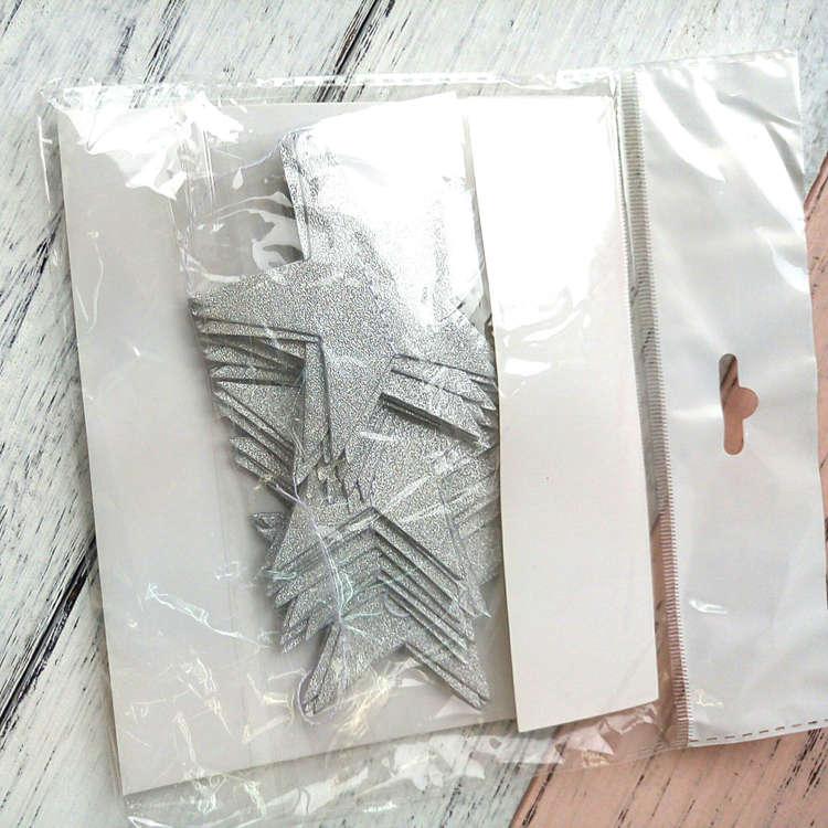 silver star paper garland