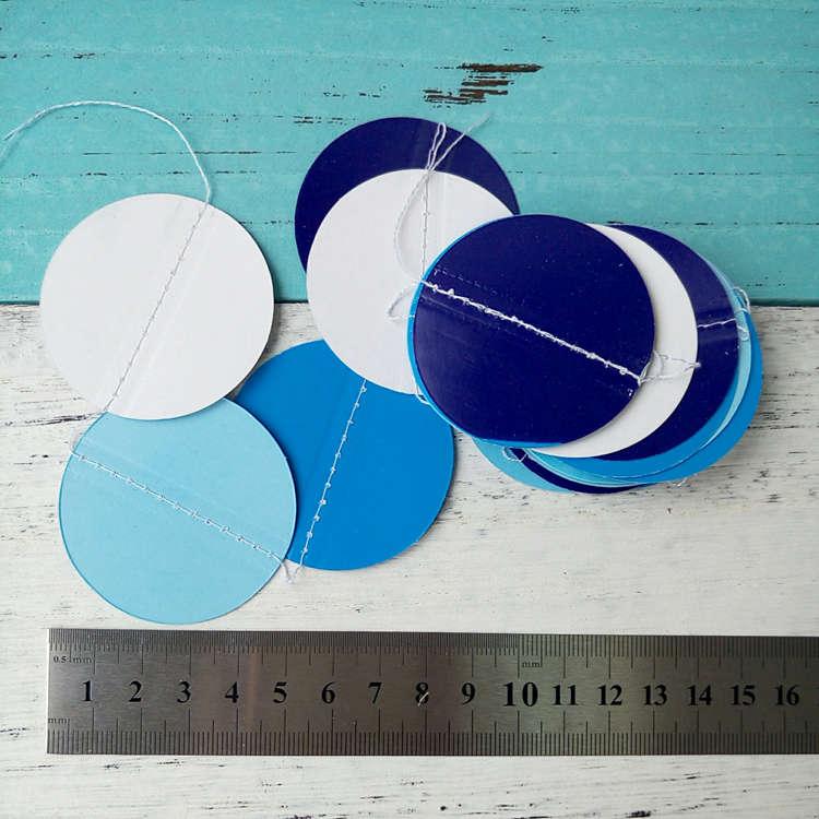blue paper garland