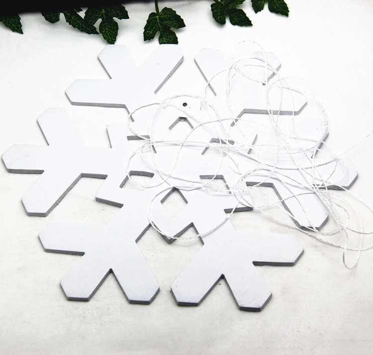 snow paper garland