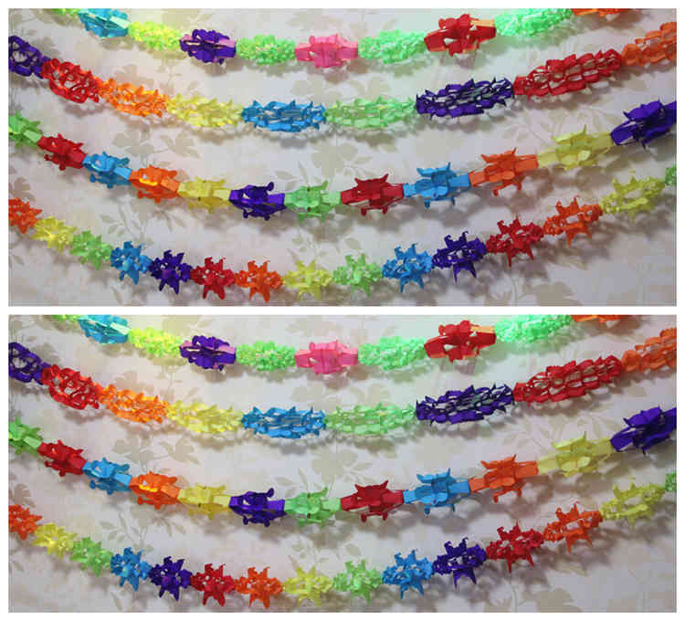UMISS Original High Quality Colorful Paper Garland For Birthday Party Decoration