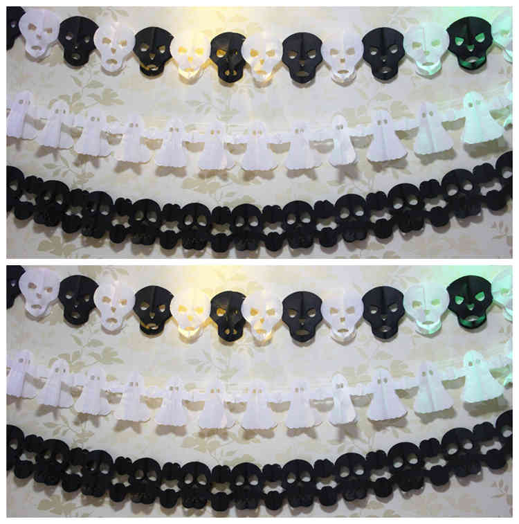 Skull And Ghost Halloween Paper Garland