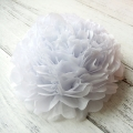 Umiss Party Deco White Tissue Paper Pom Pom Flowers by Chinese Manufacturer