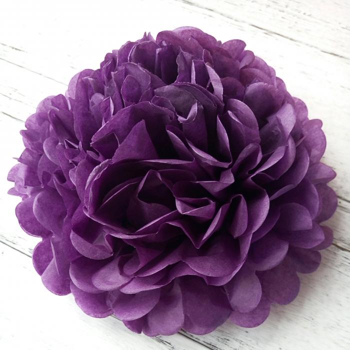 Buy Umiss Tissue Paper Flowers Dark Purple Paper Pom Poms For