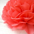 Umiss paper flowers red paper pom poms decorations for wedding
