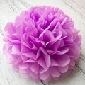 Umiss paper flowers light purple paper pom poms decorations for wedding