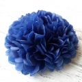 Umiss paper flowers dark blue paper pom poms decorations