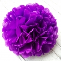 Umiss tissue Paper Pom Poms violet paper Tissue flowers for birthday wedding baby shower decorations