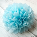 Umiss Party Decoration blue Tissue Paper Pom Poms light  for birthday wedding festival decorations