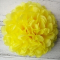 light yellow tissue puff balls paper pom poms for sale
