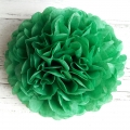 holiday green tissue paper pompoms, christmas party supplies
