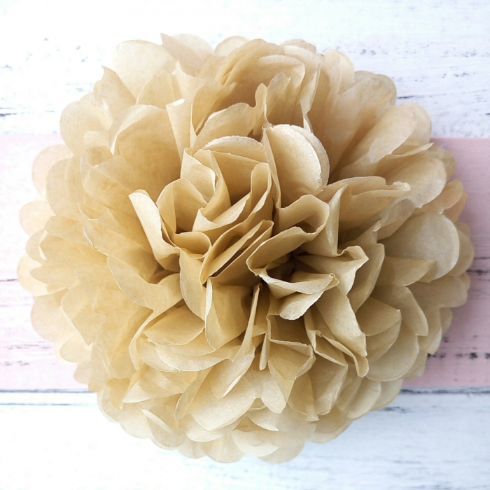 Buy Champagne Color Small Homemade Hanging Tissue Pom Poms Paper