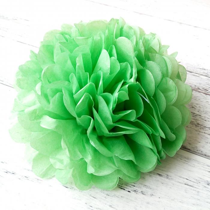 Buy Apple Green Tissue Paper Flower Ballswedding Pom Poms For Sale