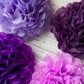Umiss violet set tissue paper pom poms party wedding graduation valentine's day bridal showers