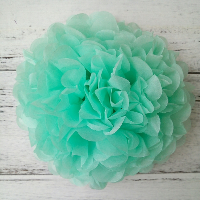 Buy bulk aquamarine blue diy tissue paper pom pomsbaby shower bulk aquamarine blue diy tissue paper pom poms baby shower supplies mightylinksfo