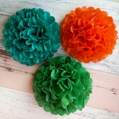 baby shower tissue pom poms