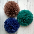 Mixed color tissue paper poofs paper balls decoration baby shower pom poms