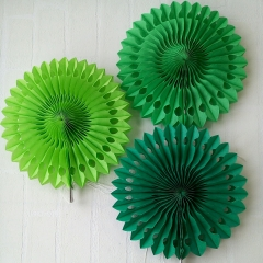 party favors green snowflake paper fans