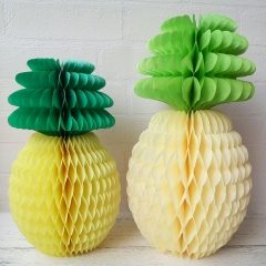 pineapple paper Honeycomb balls paper pineapple decorations