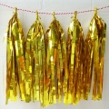 Umiss gold foil paper tassel garland hanging paper decoration for colorful wedding parties
