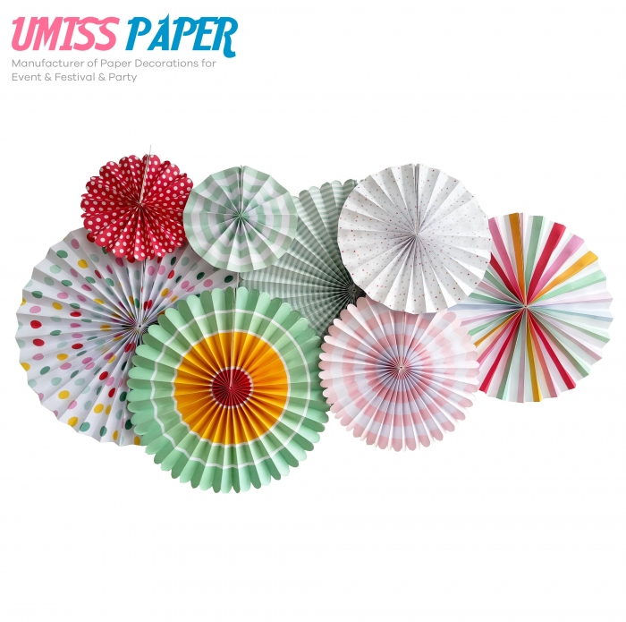 Umiss fold Paper Fans Hanging Pinwheel for Party Decorations Set of ...  sc 1 st  China ManufacturerExporterWholesaler Of Paper Decorations For ... & Umiss Fold Paper Fans Hanging Pinwheel For Party Decorations Set Of ...