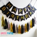 Umiss gold and pink paper tassel garland hanging paper birthday banner perfect for weddings parties nursery decoration