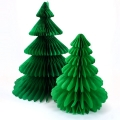 Christmas Tree Paper Honeycomb Balls For Party Decoration