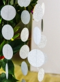 Umis Silver Circle paper Garland for New Year and Valentine's Day