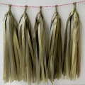Umiss Silver and Glod Tassel Garland for Parties Decoration