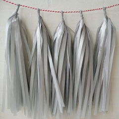 Silver and Glod Paper Garland