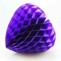 Factory Supply Love Shaped Tissue Paper Honeycomb Ball For Wedding Decoration
