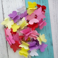 Umiss Paper Tissue 3d Butterfly Garlands for Wall Hanging Decoration