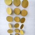 Umiss Glitter Gold Paper circle Garland Hanging Decorations