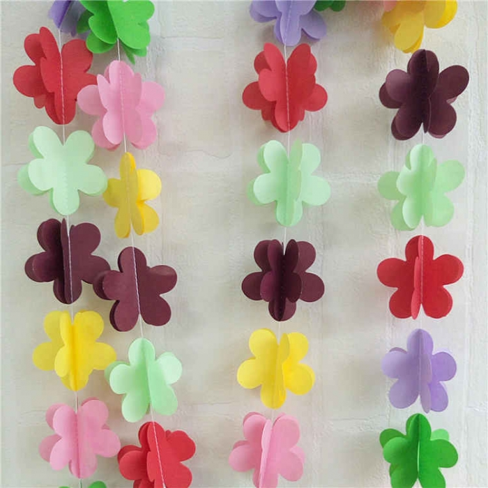 Multicolour 3d flower paper string garlandmulticolour birthday multicolour 3d flower paper string garland for birthday party decoration mightylinksfo