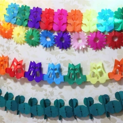 Flower Music Note Dragonfly Tissue Paper Garland