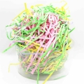Multicolor Crinkle Cut Paper Shred Present Case Filling Raffia