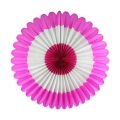 Umiss Wholesale Beautiful Large Round Folding Paper  Flower Fan for Hanging
