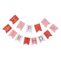 Umiss Hot New Product 2017 Gold Table Runner banner Bunting For Happy Birthday