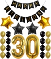 30th 50th Birthday Party Decorations Kit with Sparkling Celebration 50 Hanging Swirls