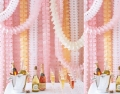 11.81 Feet/3.6M Each Hanging Garland Four-Leaf Tissue Paper Flower Garland Reusable Party Streamers for Party Wedding Decorations