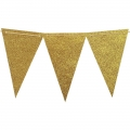 10 Feet Triangle Flag Bunting Banner for Wedding, Baby Shower, Event & Party Supplies 15pcs Flags White Pink  Gold Glitter