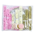 15pcs/set #050515  Birthday Party Decorations PINK GOLD IVORY SET