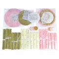26pcs/set #052226 Birthday Party Decorations gold pink ivory white set