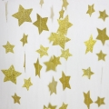 Paper Party Garland Backdrop Star Circle Dots Champagne Gold Glitter