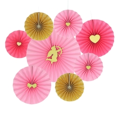 Valentines' Day Paper Fans decorations